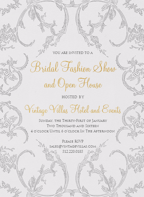 VV Bridal Fashion Show  Open House