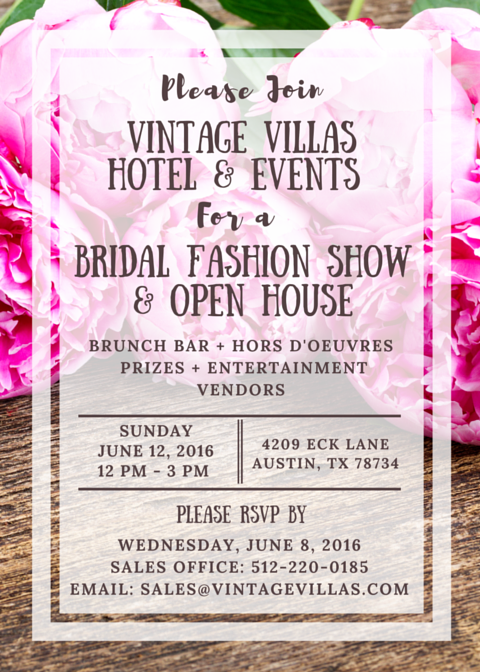 Vintage Villas Open House Invitation 6.12.16